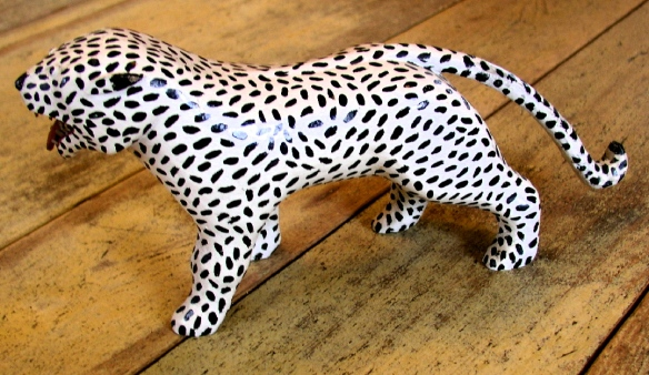 another example of a leopard. This one bought from Jean Lacasse many years later.