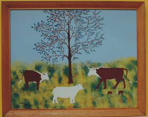 One of Eddie's cow paintings