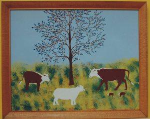 One of Eddie's cow paintings