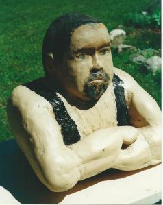 Andre's bust of Quebec strongman Louis Cyr