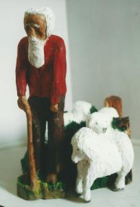 an old man and his sheep by Andre Laporte