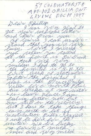 Bill's last letter
