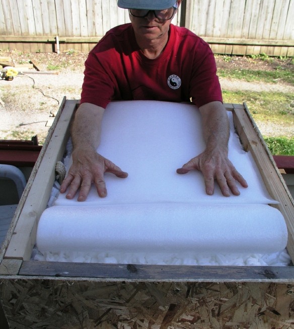 step 5 - fill with chips and foam